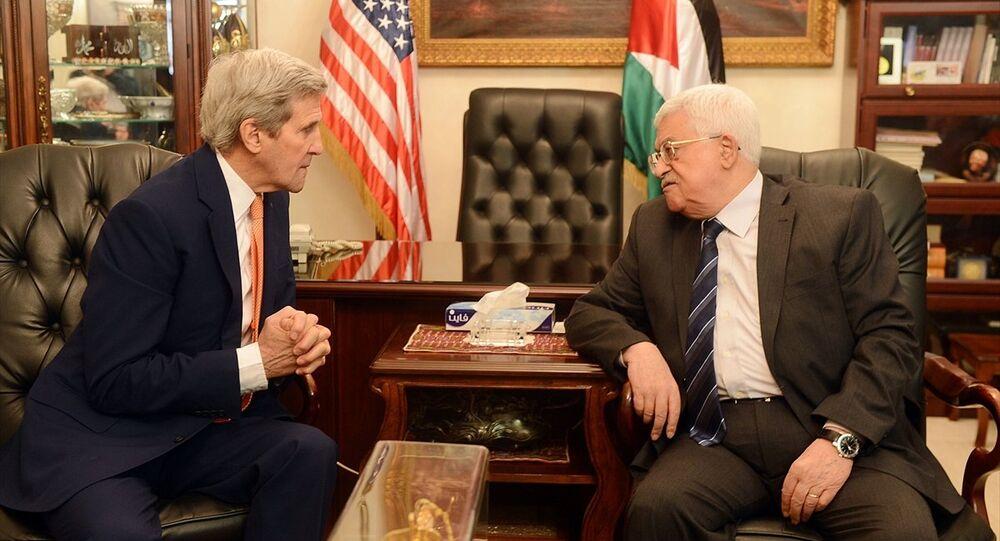 ABD Dışişleri Bakanı John Kerry - Filistin Devlet Başkanı Mahmud Abbas