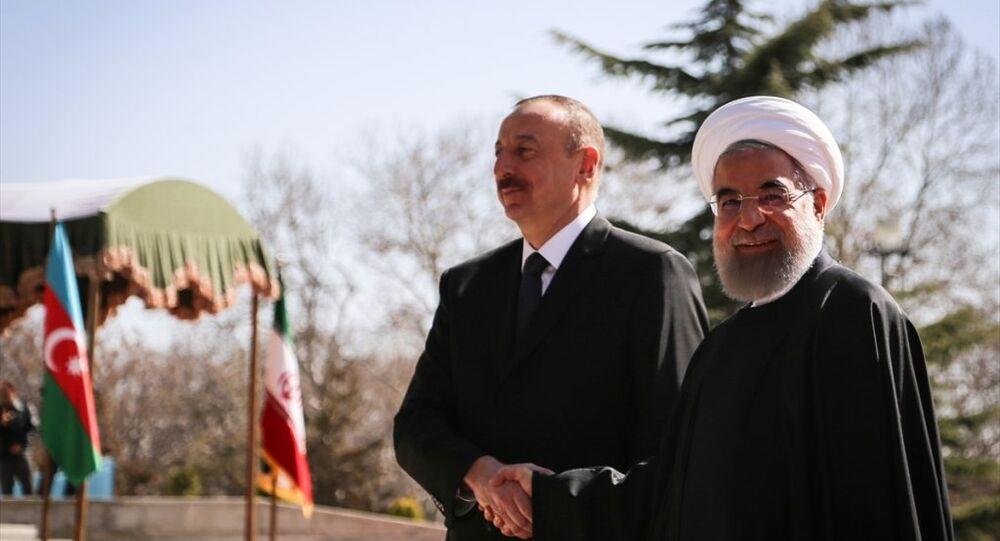 Azerbaycan Cumhurbaşkanı İlham Aliyev ve İran Cumhurbaşkanı Hasan Ruhani