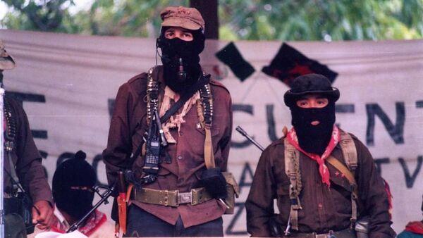 Meksika'da silahlı devrimci örgüt Zapatista Ulusal Kurtuluş Ordusu'nun (EZLN) 'eski' lideri Subcomandante Marcos - Sputnik Türkiye
