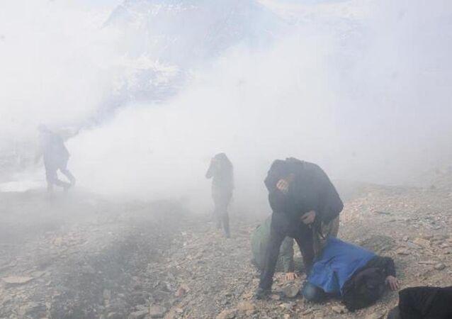 Cizre'de ölen PKK'lı, Hakkari'de toprağa verilirken olay çıktı