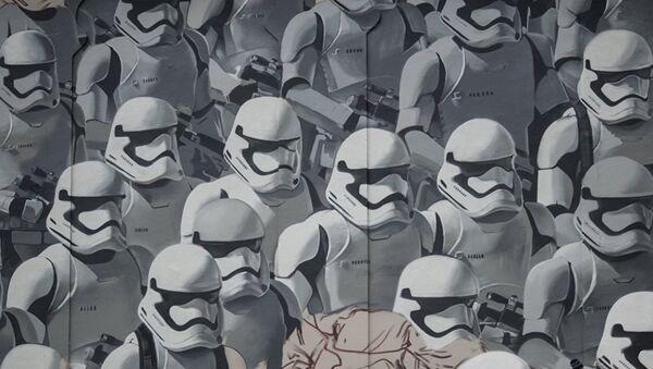 Moskova'da bulunan Star Wars grafitisi - Sputnik Türkiye