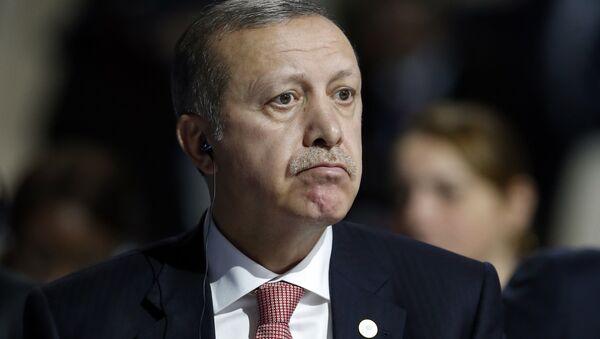 Türkiye Cumhurbaşkanı Recep Tayyip Erdoğan, Paris'teki COP21 konferansında. (30 Kasım 2015) - Sputnik Türkiye