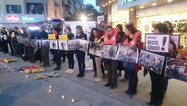 28 ülke, 115 şehirde sığınmacılar için eylem düzenlendi - Sputnik Türkiye