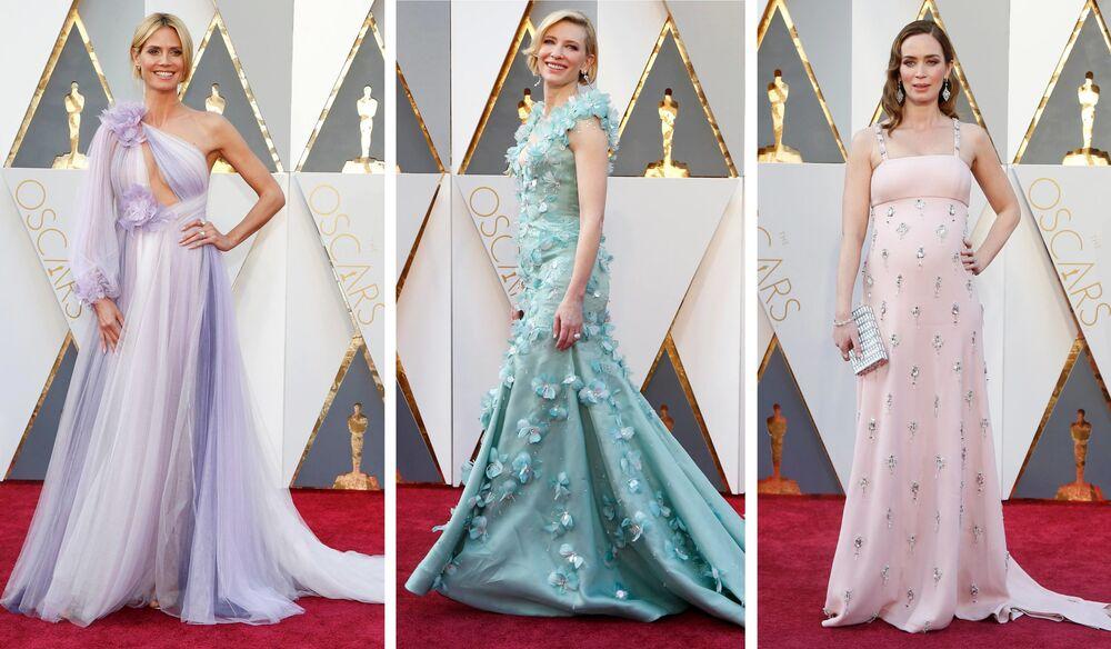 Heidi Klum, Cate Blanchett  ve Emily Blunt Oscar ödül töreninde