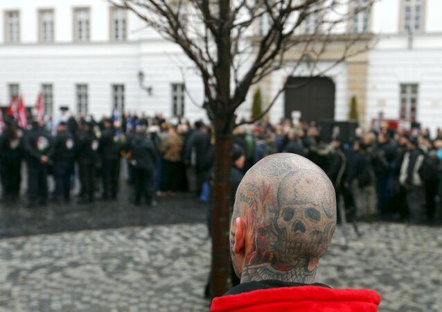 Neo Nazilerin Budapeşte'deki 'Onur Günü' eylemlerinden.