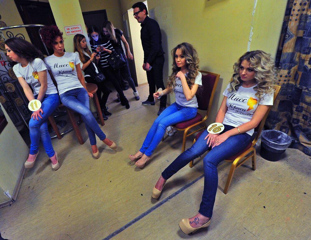 Miss Moscow 2016  yarışmacısılar.
