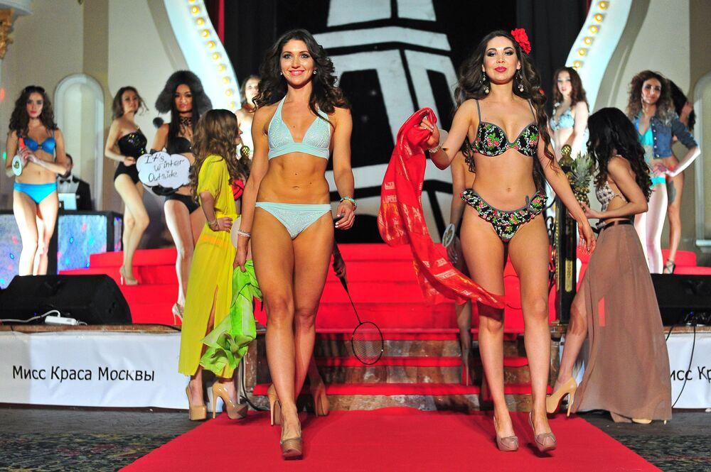 Miss Moscow 2016  renkli görüntülere sahne oldu.