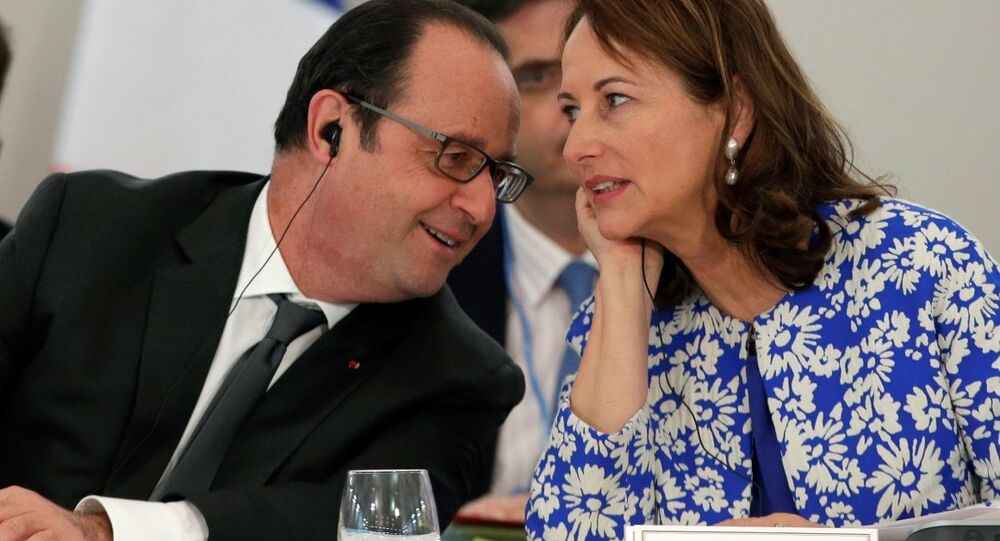 Fransa Cumhurbaşkanı François Hollande- Ekonomi Bakanı Segolene Royal