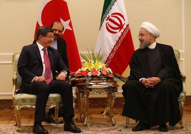 Türkiye Başbakanı Ahmet Davutoğlu- İran Cumhurbaşkanı Hasan Ruhani