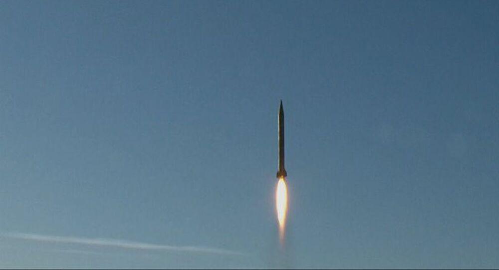 İran'ın balistik füze denemesi.