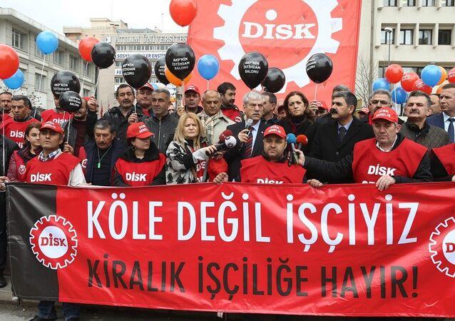 Devrimci İşçi Sendikaları Konfederasyonu (DİSK) Genel Başkanı Kani Beko
