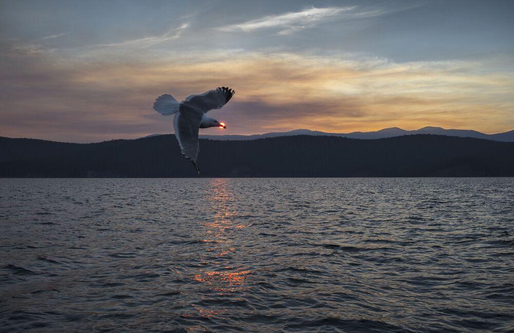 Baykal gölündeki Uşkan adaları.