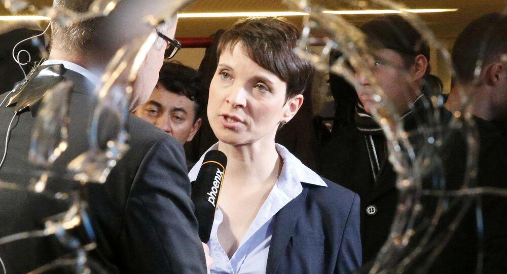 Almanya İçin Alternatif (AfD) Partisi Başkanı Frauke Petry