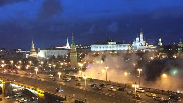 Kremlin yakınında yükselen duman bulutu korkuttu. - Sputnik Türkiye