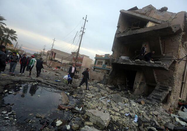 Bağdat'ta meydana gelen bir intihar saldırısı (12 Ocak 2016)