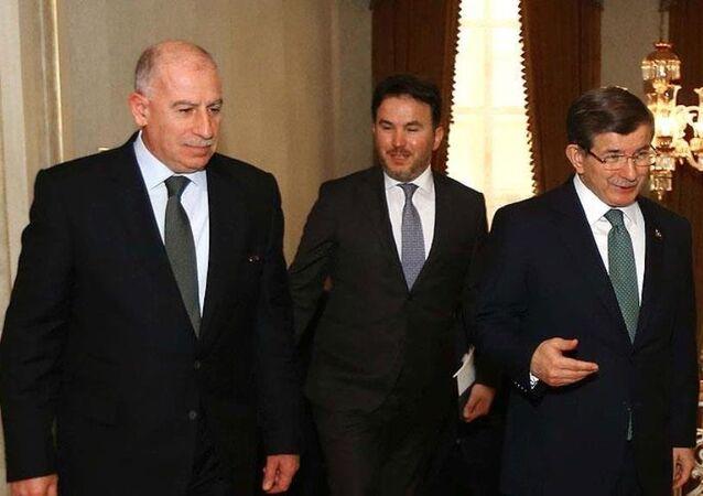 Başbakan Ahmet Davutoğlu ve  Irak Cumhurbaşkanı Yardımcısı Usame Nuceyfi