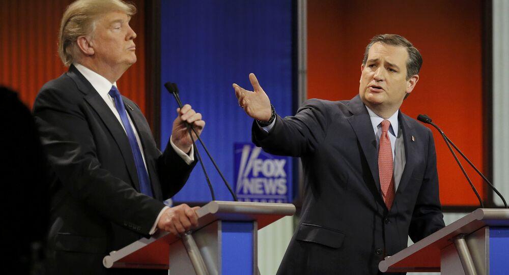 ABD'de Cumhuriyetçi başkan aday adayları Donald Trump ve Ted Cruz