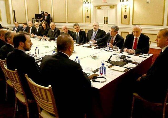 Erdoğan, ABD'de Musevi kuruluşların temsilcilerini kabul etti.