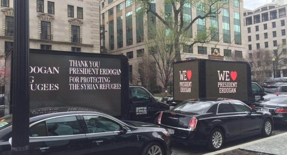 Cumhurbaşkanı Erdoğan'ın ABD'deki 'propaganda kamyonu'