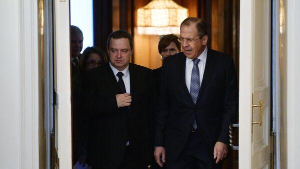Rusya Dışişleri Bakanı Sergey Lavrov - Sırbistan Dışişleri Bakanı Ivica Dacic - Sputnik Türkiye