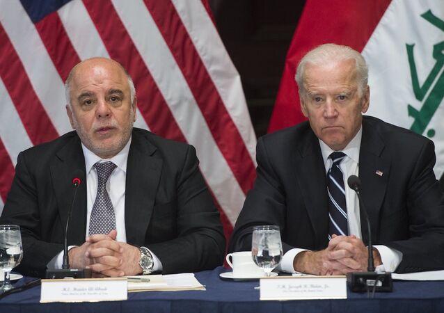 ABD Başkan Yardımcısı Joe Biden ve Irak Başbakanı Haydar İbadi