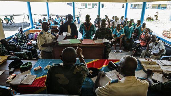 Orta Afrika Cumhuriyeti'nde bulunan MINUSCA barış gücü misyonunda görev yapan 3 Kongolu askerin yargılanmasına başlandı. - Sputnik Türkiye