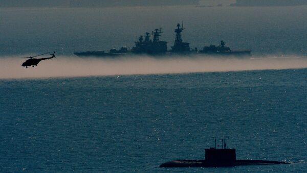 Rusya'nın Pasifik Filosu'nun deniz piyade birliklerinin katılımıyla Primorye bölgesinde askeri tatbikatı - Sputnik Türkiye
