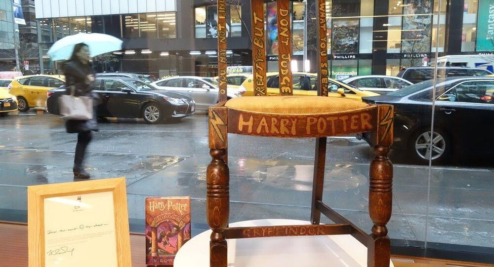 Harry Potter'ın yazıldığı sandalye