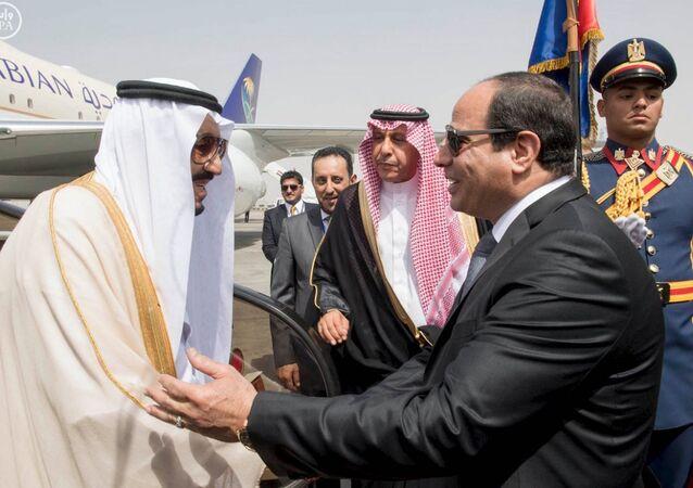 Suudi Arabistan Kralı Selman bin Abdülaziz el Suud ve Mısır Cumhurbaşkanı Abdulfettah el Sisi