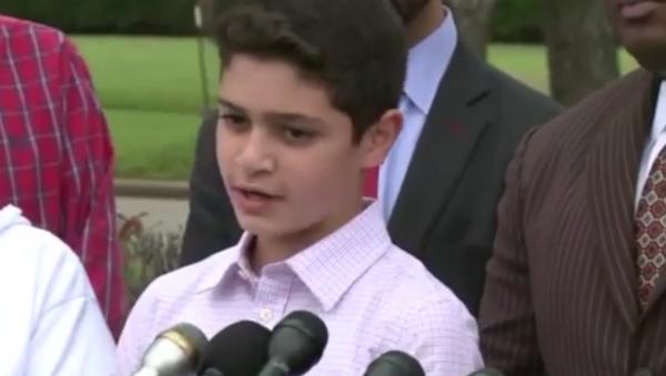 Terörist olmakla suçlanan 12 yaşındaki Müslüman öğrenci Waleed Abushaaban - Sputnik Türkiye