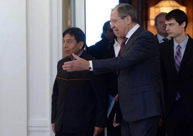 Rusya Dışişleri Bakanı Sergey Lavrov - Bolivya Dışişleri Bakanı David Choquehuanca