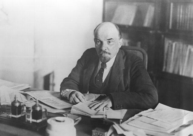 Wladimir Lenin im Kreml, 1918