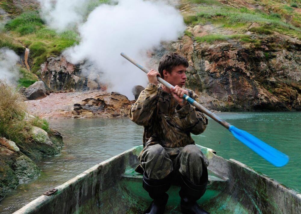 Kamçatka'daki Gayzer Vadisi
