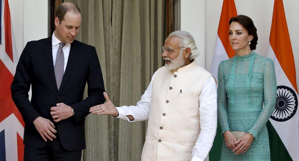 Prens William - Cambridge Düşesi Kate Middleton - Hindistan Başbakanı Narendra Modi