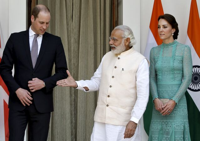 Prens William - Cambridge Düşesi Kate Middleton - Hindistan Başbakanı Narendra Modi