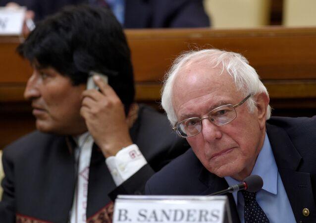 Bolivya lideri Evo Morales- ABD'li başkan aday adayı Bernie Sanders