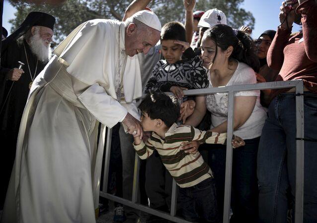 Papa Francis Midilli'de