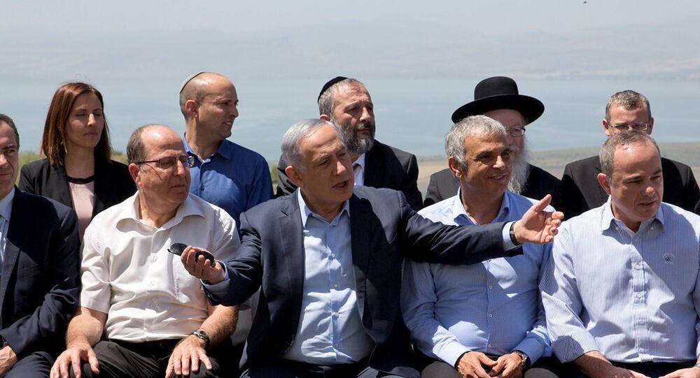 İsrail Başbakanı Benyamin Netanyahu, ilk defa Golan Tepeleri'nde düzenlenen kabine toplantısına başkanlık yaptı.