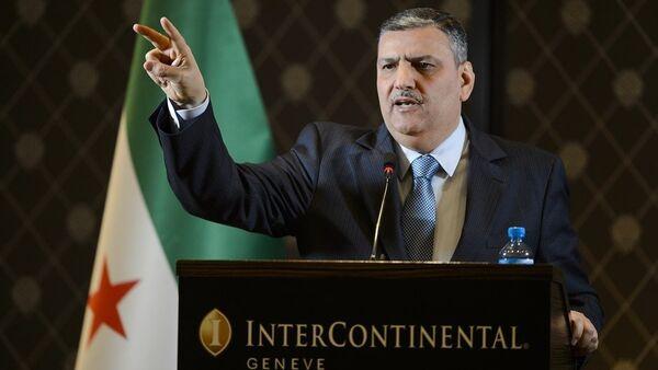 Suudi Arabistan destekli Suriyeli muhaliflerin oluşturduğu Yüksek Müzakere Komitesi'nin Başkanı Riyad Hicab - Sputnik Türkiye