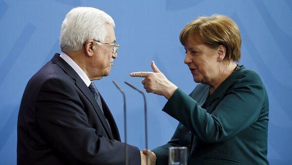 Merkel - Abbas - Sputnik Türkiye