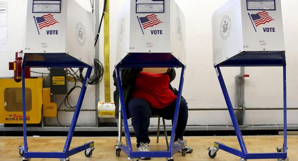 ABD'deki seçim sandıkları.
