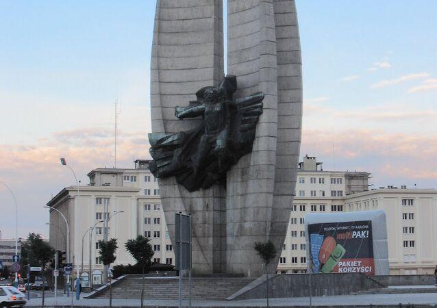 Polonya'nın Rzeszów kentindeki 'Devrimci Kahramanlık' anıtı