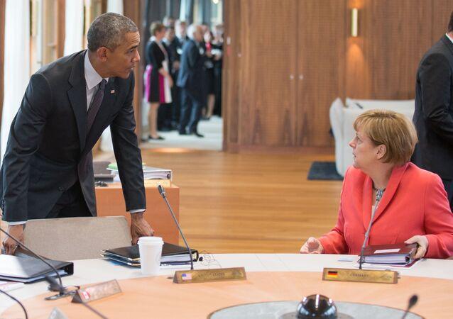 ABD Başkanı Barack Obama- Almanya Başbakanı Angela Merkel
