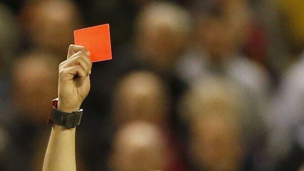 Kırmızı kart/futbol. - Sputnik Türkiye