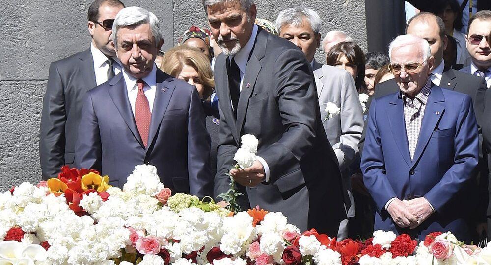 George Clooney ve Ermenistan Cumhurbaşkanı Serj Sarkisyan