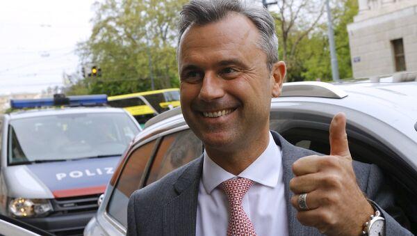 Avusturya cuhurbaşkanlığı seçiminde Özgürlük Partisi'nin adayı olan Norbert Hofer - Sputnik Türkiye