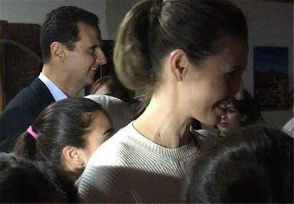 Suriye Devlet Başkanı Beşar Esad ile eşi Esma