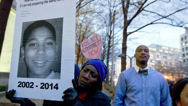 Tamir Rice'ın ölümünün ardından ABD'de birçok kentte protestolar düzenlendi. - Sputnik Türkiye
