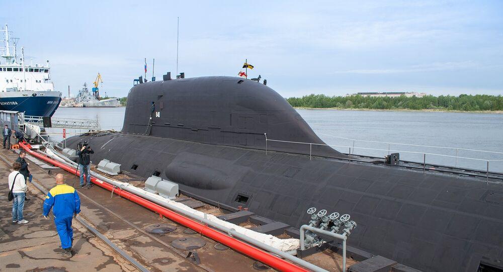 Severodvinsk'teki Sevmash limanındaki Rus denizaltısı Yasen K-560