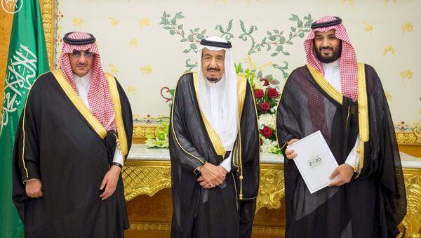 Suudi Arabistan Kralı Selman - Veliaht Prensi Muhammed bin Nayif - Veliaht Prensi Muhammed bin Selman - Sputnik Türkiye